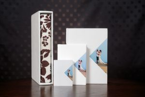 Kent and London wedding photographer presents deluxe Black Label Wedding Albums, handmade in Italy with a wide variety of colours, leathers, silks, and other options, extra large wedding album with parents copies and parent albums in presentation box