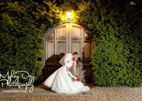 Winters Barns Wedding Venue in Kent - Night time bride and groom ocf