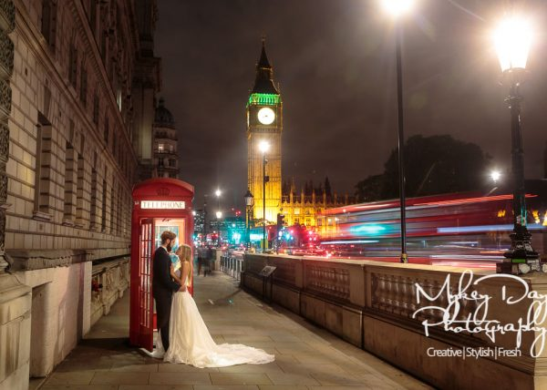 Big Ben Westminster Night time London Wedding Photographer | London Wedding Photographs