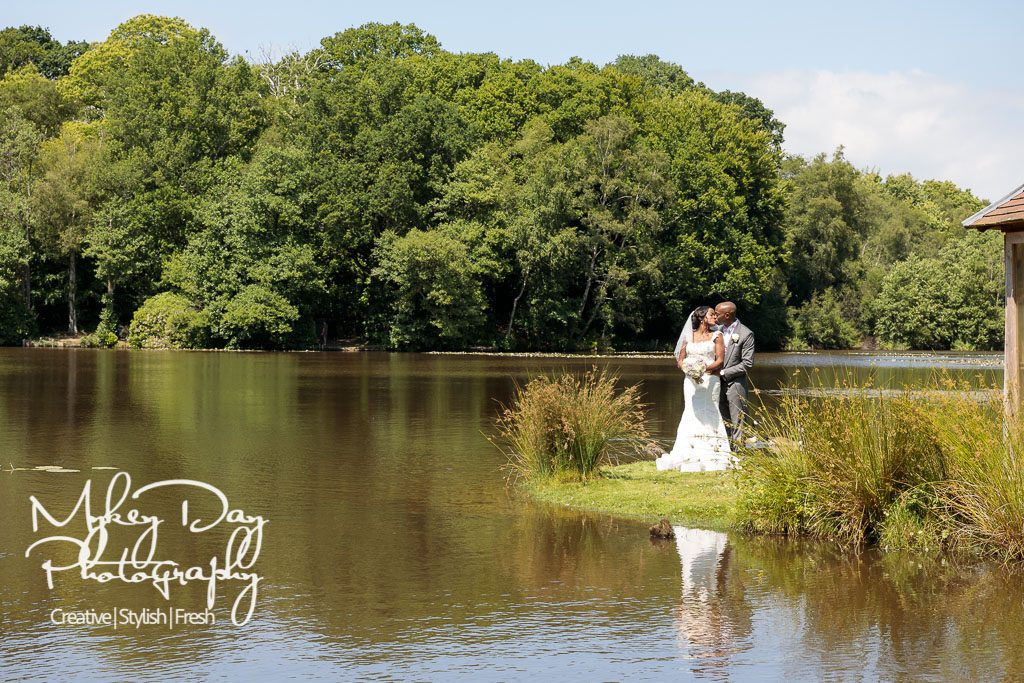 PowderMills Wedding Venue | Powder Mills Wedding Photo | Powder Mills Hotel | Bride & Groom | Wedding Couple creatives | Lake