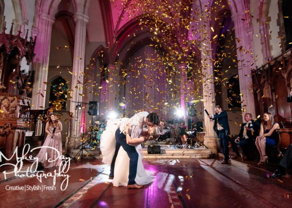 Kent Wedding Photographer | First Dance | Wedding Reception | Confetti Wedding Dance Photo