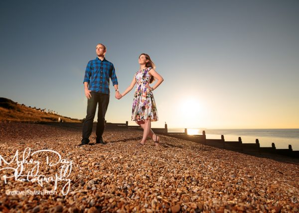 Whitstable Sunset Wedding Engagement Photography | Kent Wedding Photography