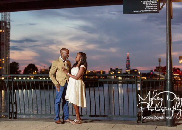 Canary Wharf Engagement Photography