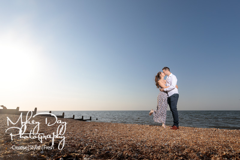 Whitstable-Sunset-Engagement-Pre-Wedding-Photos-Kent-Wedding-www.MykeyDay-Photography.com-11 Whitstable Sunset Engagement Photography - Rachel & Michael