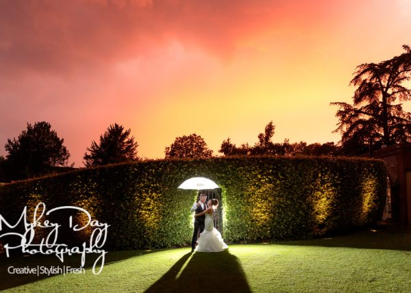 Turkey Mill Orangery Wedding Photography | Night Time Wedding Photography