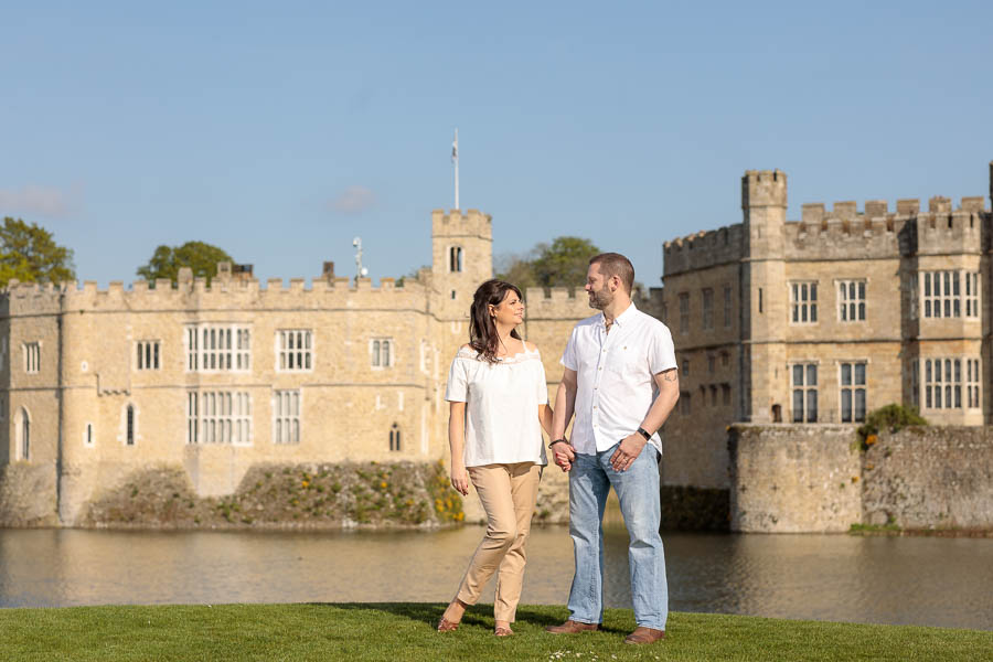 Leeds-Castle-Wedding-Photography-Denise-Paul-Engagement-Photos-www.MykeyDay-Photography.com-30 Leeds Castle Wedding Maidstone Engagement Photography