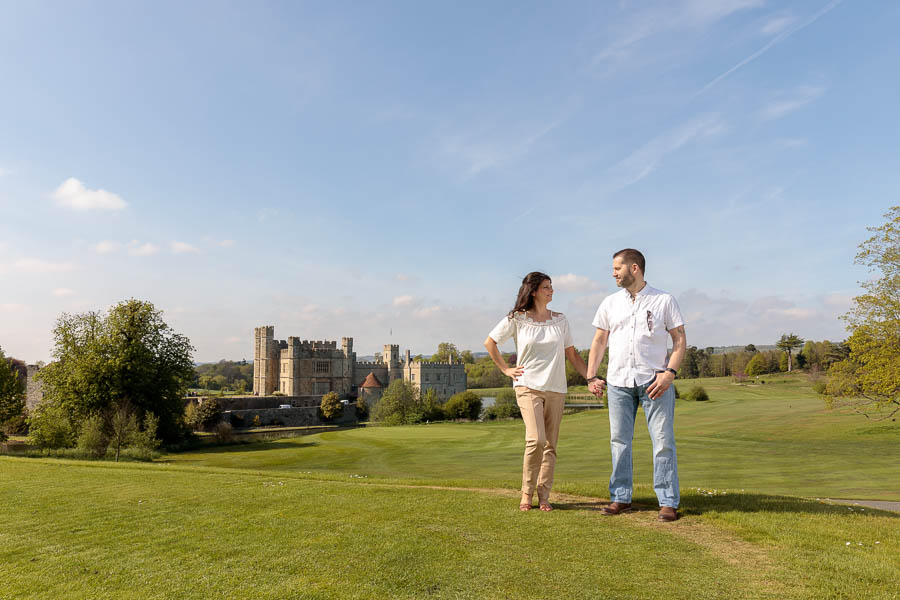 Leeds-Castle-Wedding-Photography-Denise-Paul-Engagement-Photos-www.MykeyDay-Photography.com-8 Leeds Castle Wedding Maidstone Engagement Photography